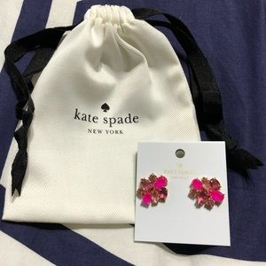 NWT Kate Spade Pink and Gold Cluster Studs